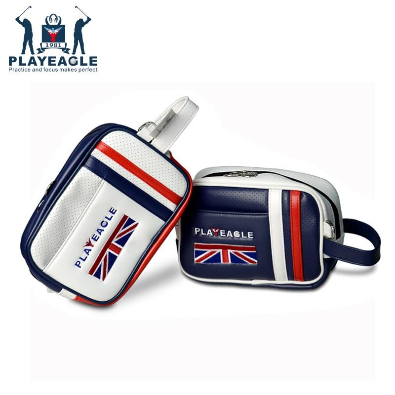 Unisex Golf Pouch Bag Handbag PU Matreial Logo Zipper Mini Golf Bag For Men Women