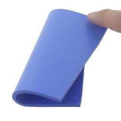 1 sztuk Gdstime 100mm x 100mm x 3mm niebieski silikon przewodzący podkładka termiczna radiator klocki na
