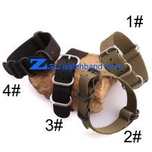nylon watchband with steel buckle waterproof nato strap 22mm sport wrist watch band 18mm 20mm 22mm