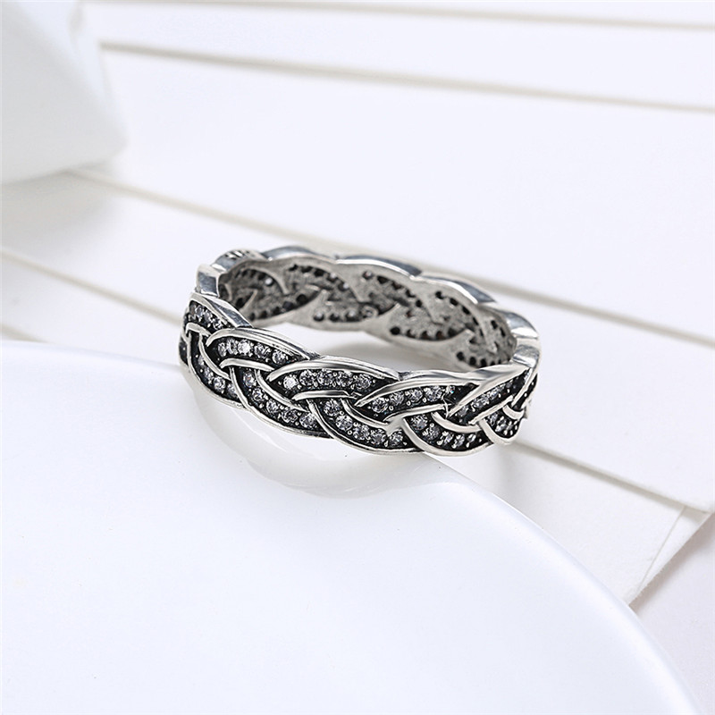 GAGAFEEL Pave 925 Sterling Silver Ring Women Jewelry Stackable ...