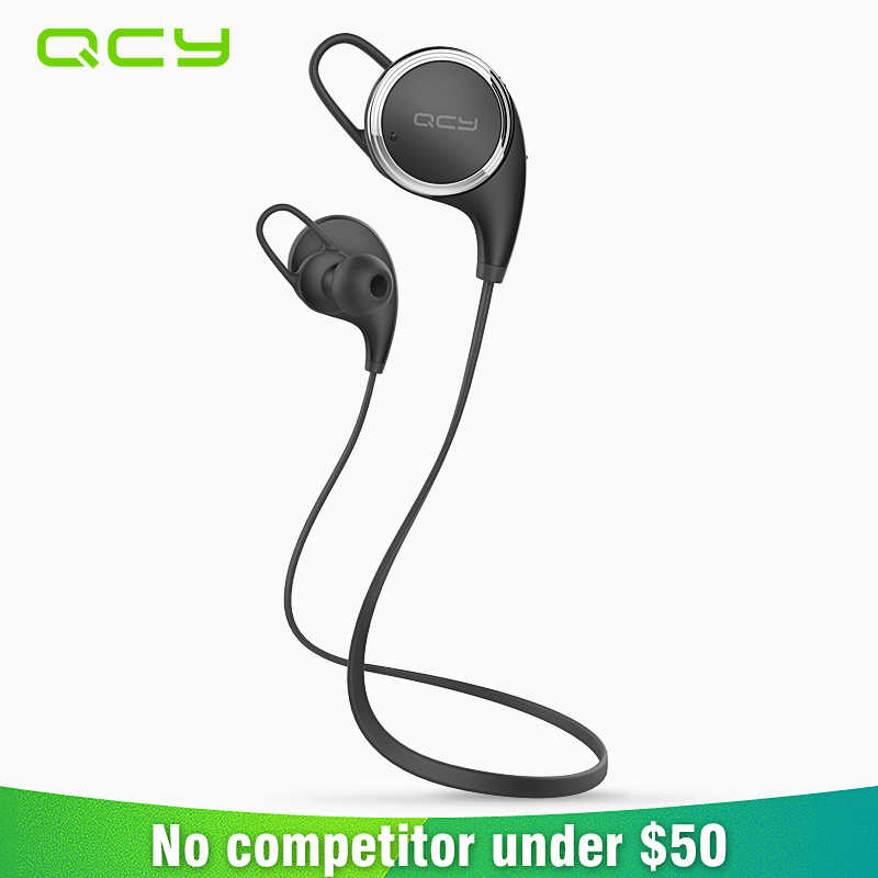 2017 QCY QY8 Nirkabel Olahraga Headphone Bluetooth 4.1 In-Ear Headset Gamer Tahan Keringat Earphone Menjalankan Kebisingan Membatalkan Earbud