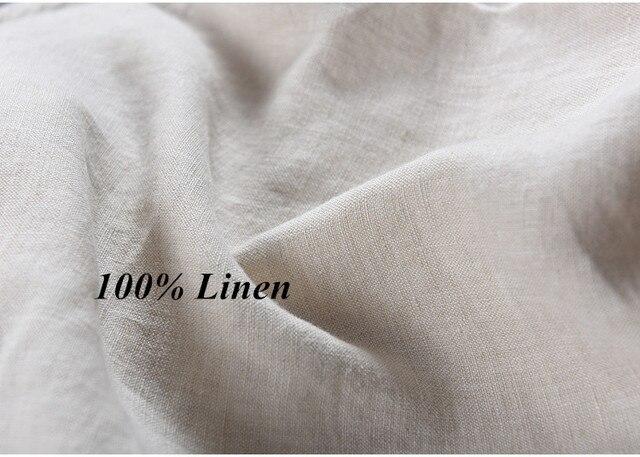 100% Linen Shorts Men Summer Short Pants 4
