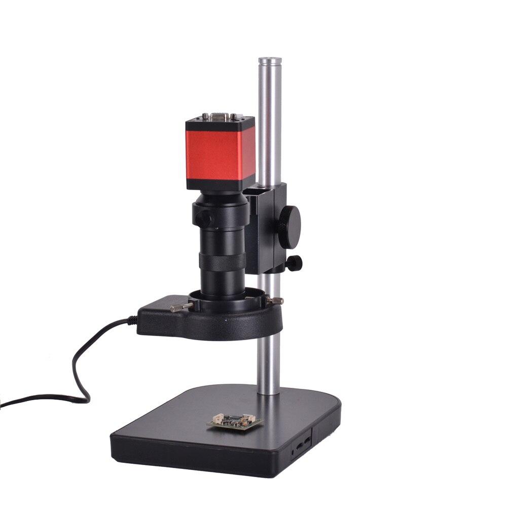 13MP HDMI 1/3 pulgadas CMOS HD VGA Digital de Video inspección microscopio Cámara + 100X C- montaje de la lente + 56 LED luz + soporte de mesa de