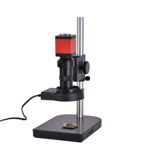13MP HDMI 1/3inch CMOS HD VGA Digital Industry Video Inspection Microscope Camera Set+100X C-mount Lens+56 LED Light+table stand