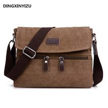 Men 's canvas shoulder bag multi – functional men' s travel leisure diagonal package solid color zipper handbag packaging