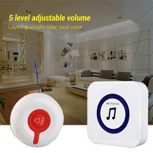 Image 5 - Retekess hemşirelik ev yaşlı çağrı sistemi acil çağrı cihazı Kablosuz Bakıcı Çağrı Uyarısı Sistemi Çağrı Düğmesi + Alıcı