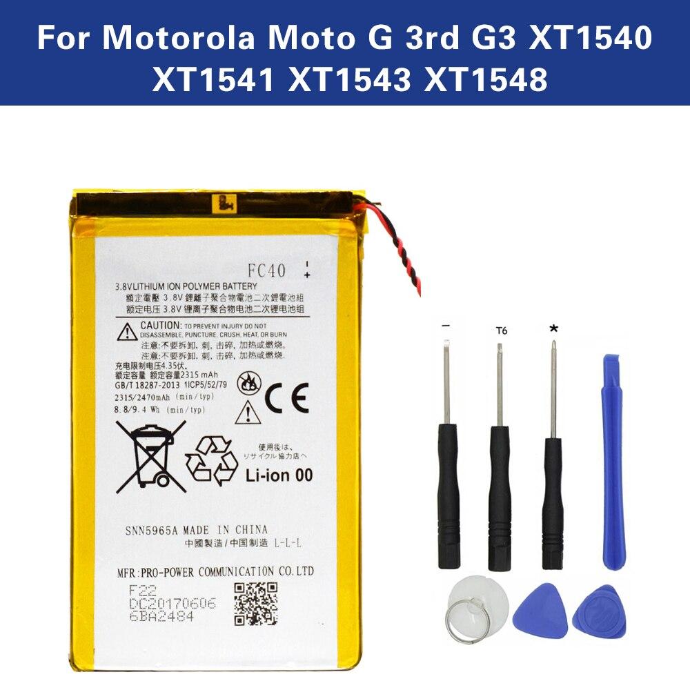 SNN5965A FC40 TAMEX Nova Bateria Para Motorola Moto G 3rd G3 XT1540 XT1541 XT1543 XT1544 XT1548 XT1550 XT1557