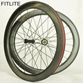 2 year warranty 58mm dimple wheelset 4 04 carbon wheels black R36 Ceramic bearing hubs