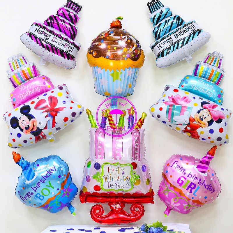 Detail Feedback Questions About Aluminium Balloon Party Birthday Metallized Helium Ballon Childrens Decoration For Cake Decorating Foil Balloons On