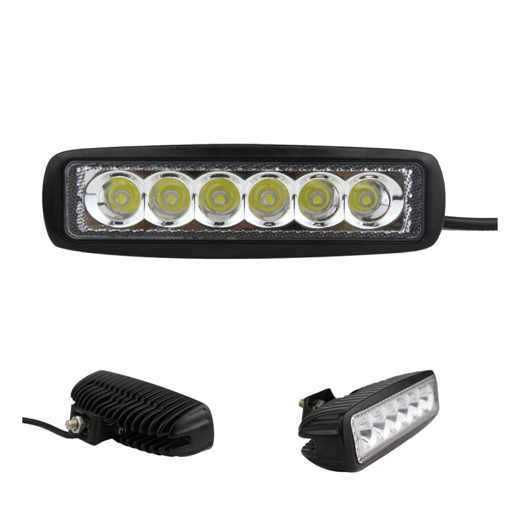 цены  1800 LM Mini 6 Inch 18W 6 x 3W Car CREE LED Light Bar as Work light Flood Light Spot Light for Boating Hunting Fishing