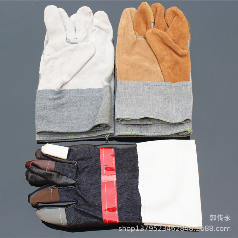 Leather gloves multicolor