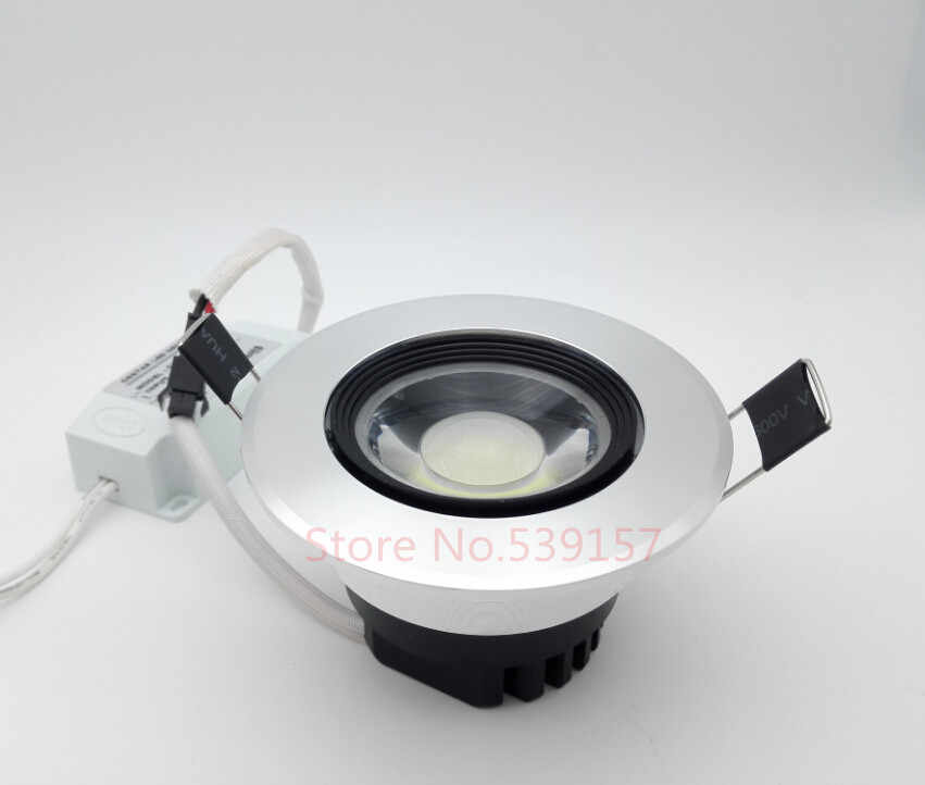 Free shipping(20pcs/lot), 10w warm cold white  LED cob light,  AC85-265v,Dimmable cob ceiling light ,cob led reessed light