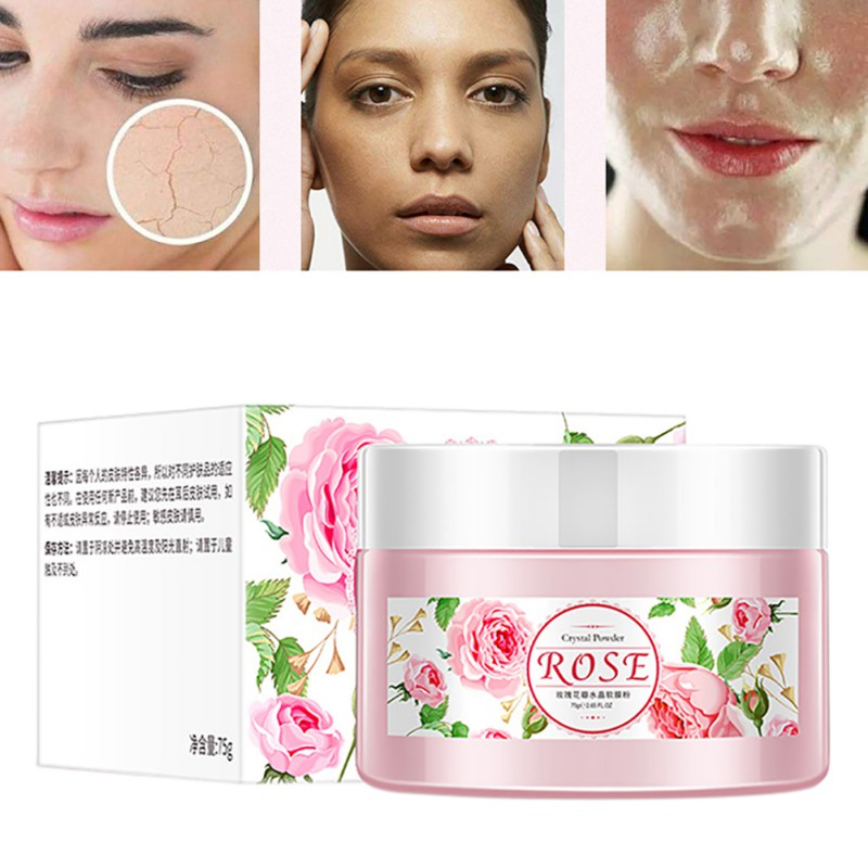 Useful Essential Oil Rose Soft Film Powder Glitter Hardening Whitening & Moisturizing Powder Mask