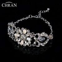 Hot Sell New Bridal Bridesmaid Chain Freshwater Pearl Crystal Rhinestone Bracelet Bangle Wedding Wristband Gift Jewelry