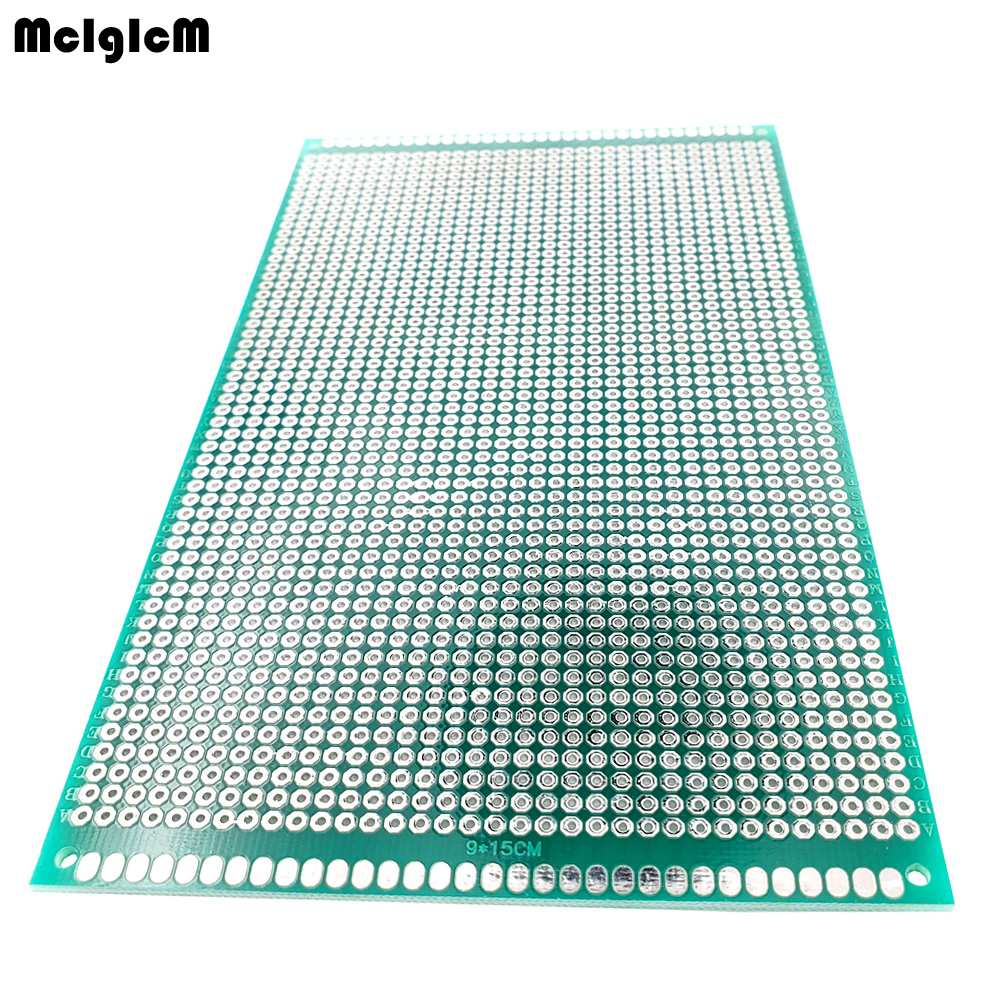 20 pcs 9x15 cm PROTOTYPE PCB 2 layer 9*15CM panel Universal Board double side 2.54MM Green-in Double-Sided PCB from Electronic Components & Supplies