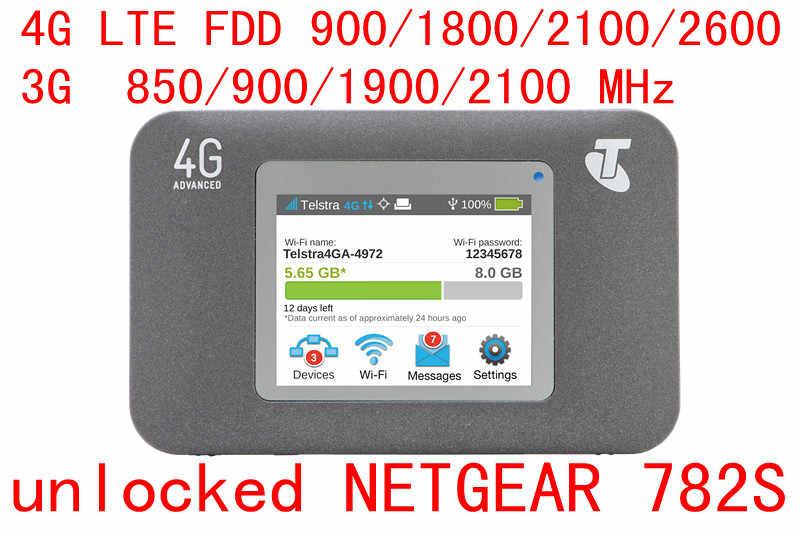 Desbloqueado usado netgear aircard 782 s (ac782s) 4g lte móvel hotspot cat4 wifi roteador 4g lte wifi portátil hotspot sim