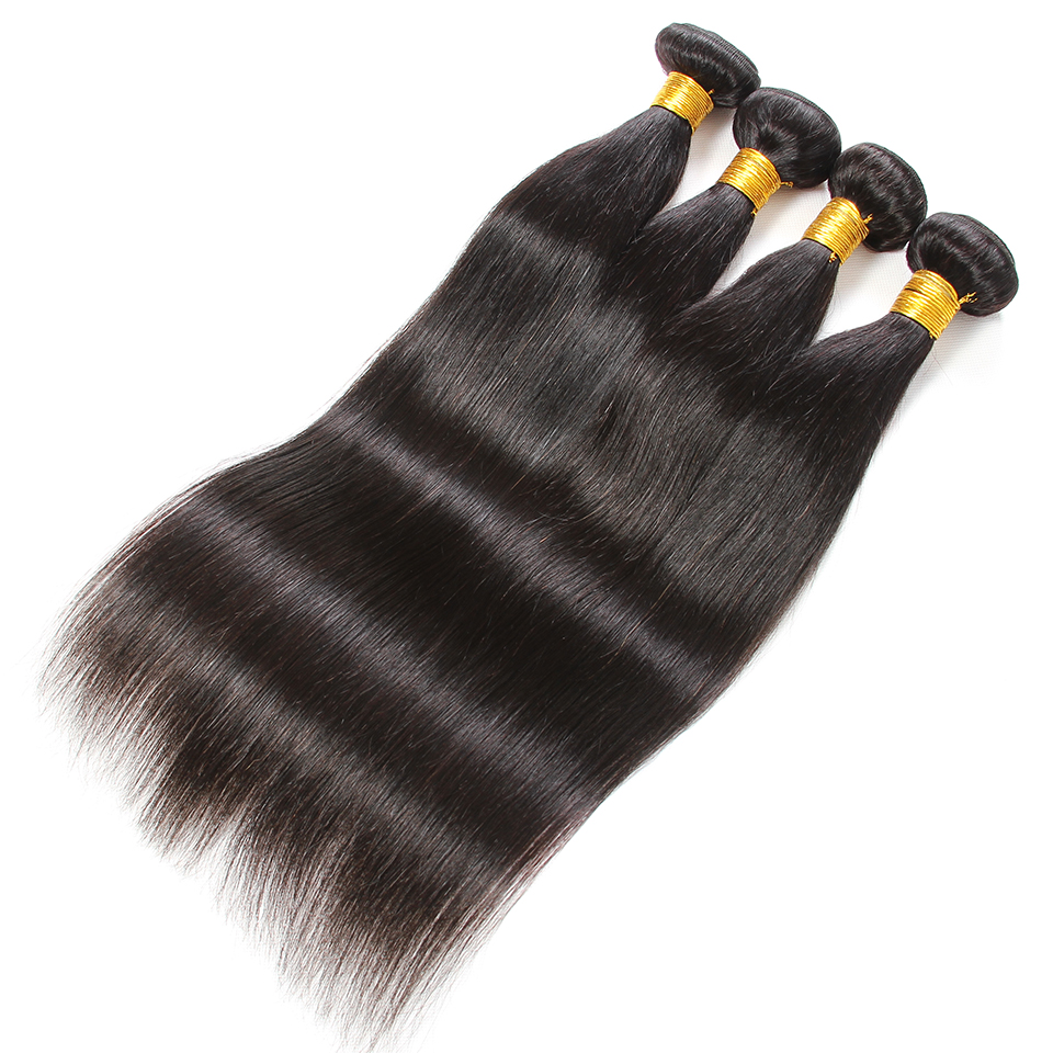 Queen Like Hair Products 100% Human Hair Extensions Double Weft Straight Hair Bundles Non Remy Weave 1 3 4 Bundles Indian Hair