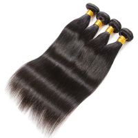 QueenLike Hair Products 100% Human Hair Extensions Double Weft Straight Hair Bundles Non Remy Weave 1 3 4 Bundles Indian Hair