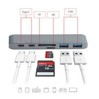 Double Type C Card Reader Hub 6 In 1 6in1 USB C Hub 3 0 Type