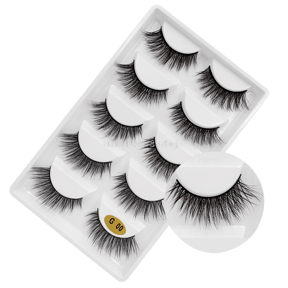 HTB1xONSXPDuK1Rjy1zjq6zraFXa8 New 3D 5 Pairs Mink Eyelashes extension make up natural Long false eyelashes fake eye Lashes mink Makeup wholesale Lashes