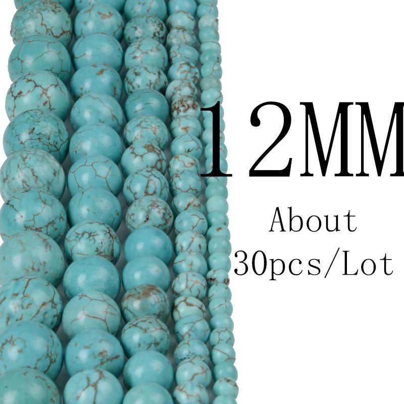 Chanfar 4 6 8 10 12mm טבעי אבן חרוזים שחור לבה טייגר עין בתפזורת Loose אבן DIY ביצוע צמיד שרשרת תכשיטים