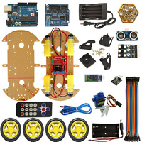 4WD Bluetooth Multi functional DIY Smart Car For Arduino Robot Education Programming+User Manual+PDF(online)+Video