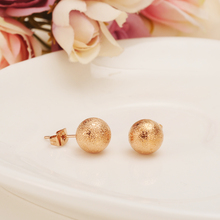 rose gold cute lovely ball round beads l Ear Studs copper Helix Earring Women girls  Accessories wedding bridal  Christmas gifts fanier new charm rose gold flag zircon four ear studs mode ladies simple temperature jewel ear ball recommended marriage ball
