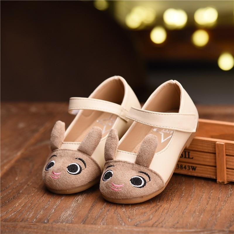 2018 Spring Kids Cute Cartoon Leather Shoes Baby Girls Princess Dress Shoe Children Soft Soled Infantil Chaussure Enfant Fille
