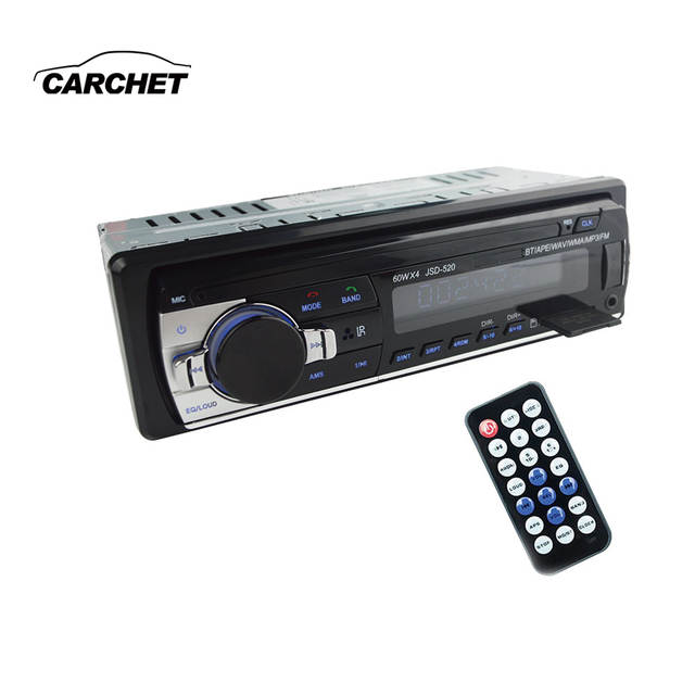 US $24 45 21% OFF|CARCHET DC 12V Bluetooth Car MP3 Player Hands free call  lossless music radio automobile auto car audio car CD player FM USB AUX-in