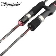 Spinpoler elfos 602-ul fiação/fundição ação rápida 1.8m ultraleve carbono macio vara de pesca para truta baixo pesca enfrentar