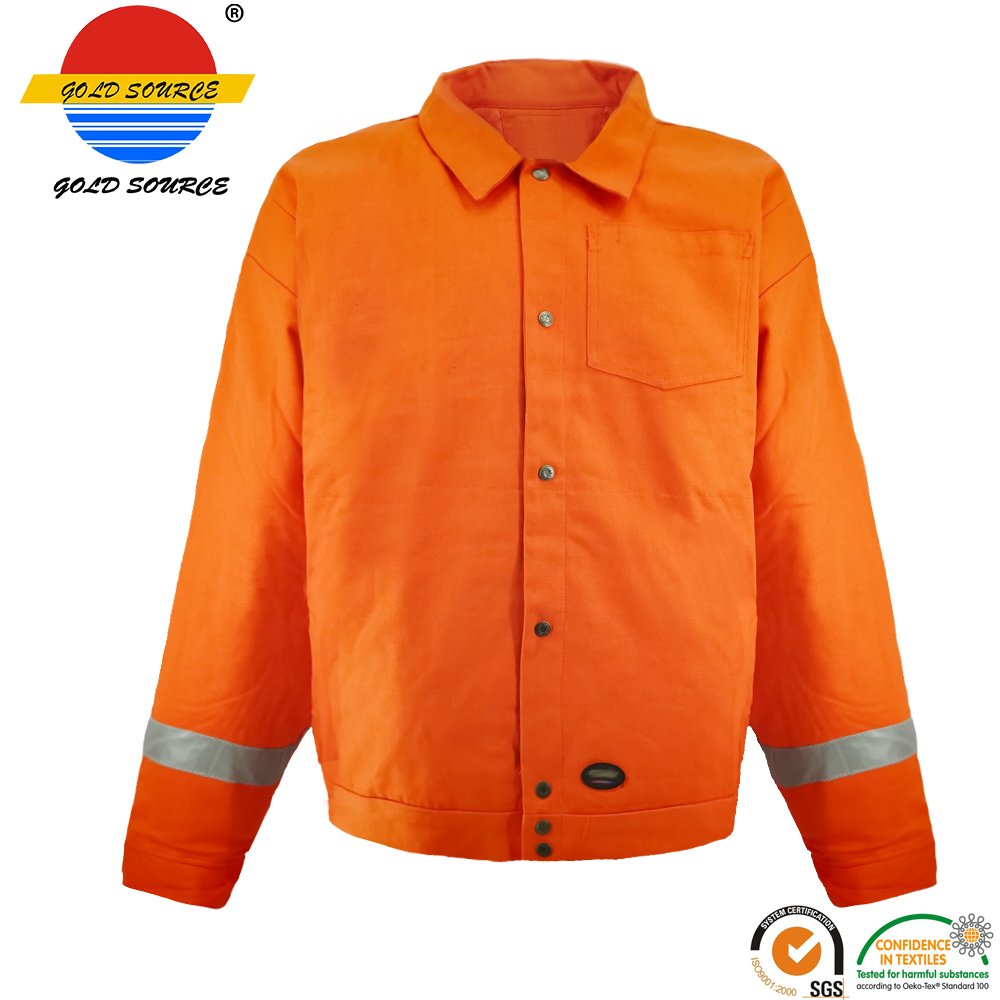Urban Supply Hi Vis Fire Retardant Orange Welding Coat Quilted Safety Mens Winter Jacket Security & Protection