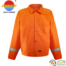 Urban Supply Hi Vis Fire Retardant Orange Welding Coat Quilted Safety Mens Winter Jacket(China)