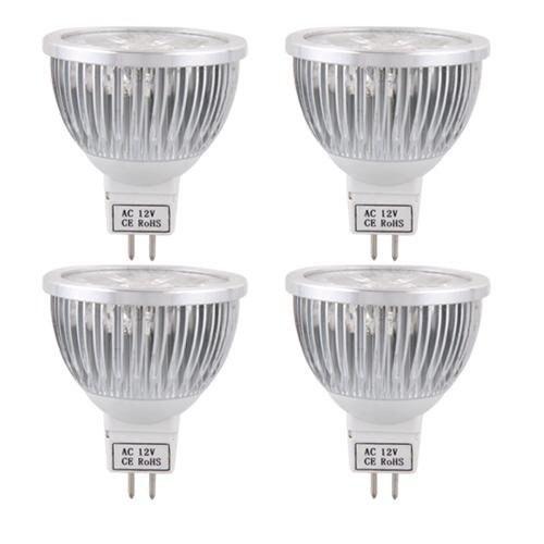 4X MR16 AMPOULE LAMPE A LED ECONOMIQUE BLANC CHAUD 4W AC DC 12V 5 Élégant Lampe Economique Led Ldkt
