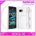 X6 desbloqueado restaurado original nokia x6 8 gb 16 gb 5mp wifi gps 3g del teléfono móvil del teléfono celular envío gratis
