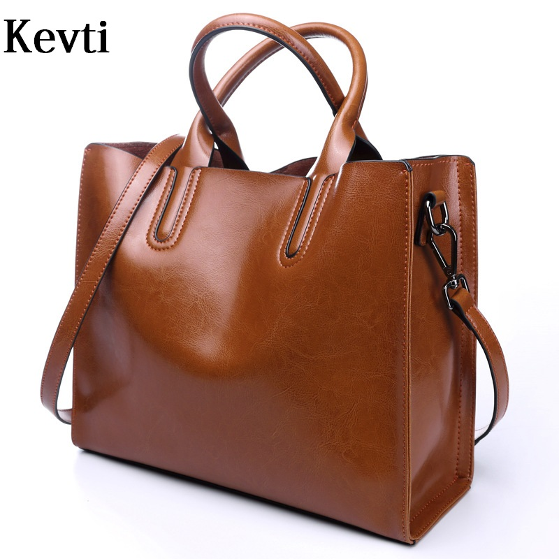 Genuine Leather Vintage Women handbag Brand Cowhide Female Large used like Shoulder bags High Quality Ladies Casual Messenger  kevti brand genuine leather women handbag high quality cowhide female shoulder bags casual crossybody bag european style hobos