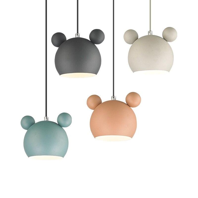 Moderne Panda pendentif lumières Makron mignon pendentif lampe demi-cercle chambre salon Hanglamp enfant enfants décoration de la maison éclairage
