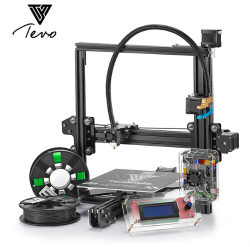 цена на 2018 Germany TEVO Tarantula I3 Aluminium Extrusion 3D Printer kit printer 3d printing 2 Rolls Filament 1GB SD card LCD As Gift