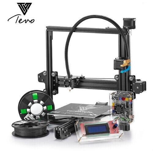 2018 Germany TEVO Tarantula I3 Aluminium Extrusion 3D Printer kit printer 3d printing 2 Rolls Filament 1GB SD card LCD As Gift