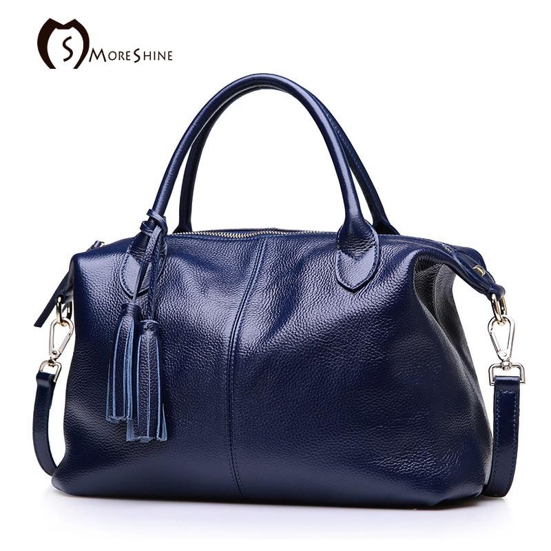 MORESHINE brand Women Genuine cow leather handbags Fall ...