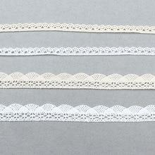 Хлопковый материал белая хлопковая кружевная тесьма Бежевая Одежда декоративная лента ручная работа пэтчворк