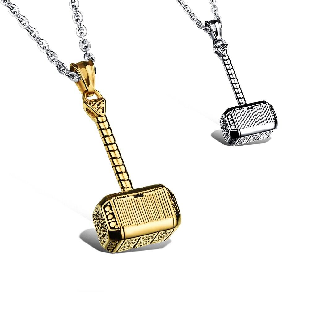 ᑐModeschmuck Halskette Männer edelstahl kette Metall hammer ...