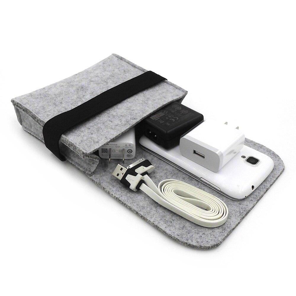 Nieuwe goedkope voelde opbergtas mini power bank geval - Home opslag en organisatie - Foto 2