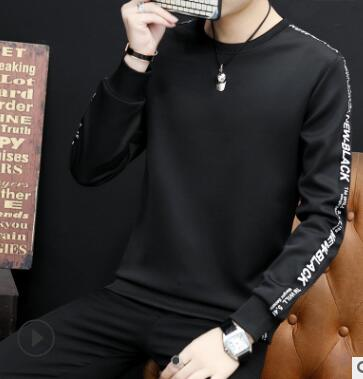 Spring 2018 new trend casual long-sleeve Korean version of the head of male hooded round collar  qz-228