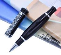 Duke 558 Roller Ball Pen Vivid Black Big Unique Style , Smooth Refill Writing Pen Business , Office , Home Supplies