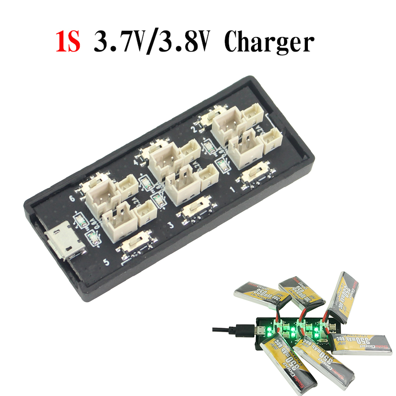 6CH USB 3.8V 1S LiHv Lipo Battery Charging Adapter Board 5V 3A USB Battery Charger Board for RC Toy Model Batteries image
