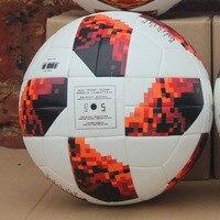 2018 World soccer Ball Red Black Match football ball PU high grade seamless paste skin outdoor Sport Training football Cup