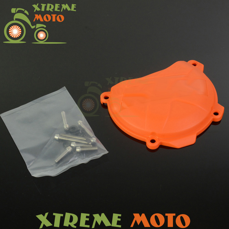 Engine Right Clutch Case Cover Guard Protector For KTM SXF EXCF XCF XCFW FREERIDE 250 350 Motocross Motorcycle Enduro Dirt Bike yinxiang yx160 engine right side cover clutch shell cap dirt pit bike motocross kayo apollo spare parts
