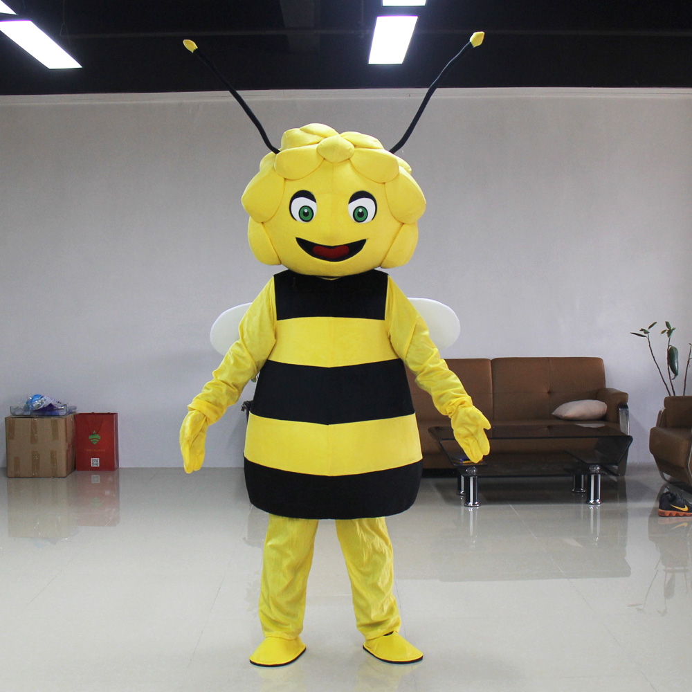 High quality Maya the bee masot Maya bee mascot costume with Free shipping