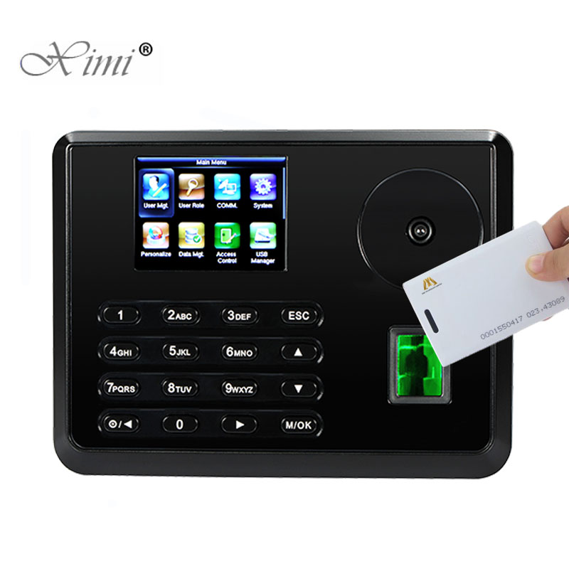 New Arrival Palm Time Attendance With 125KHZ RFID Card Reader ZK P160 Biometric Fingerprint Employee Attendance Time Clock