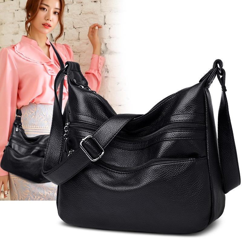 Bolsa de Ombro Designer de Luxo Bolsa de Alta Bolsa de Couro do Plutônio para Mulheres Multi-bolso Feminino Senhoras Qualidade Macio Lavado Crossbody Bolsas